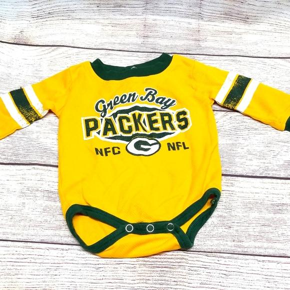 Baby green bay packers long sleeve onesie